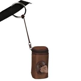 Etui na torebki na psie kupy, brązowe