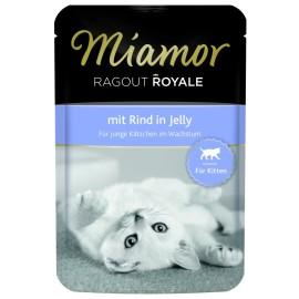 Miamor Ragout Royale dla kociąt, wołowina w galaretce