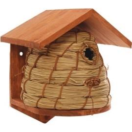 Budka lęgowa dla ptaków, z trzciny